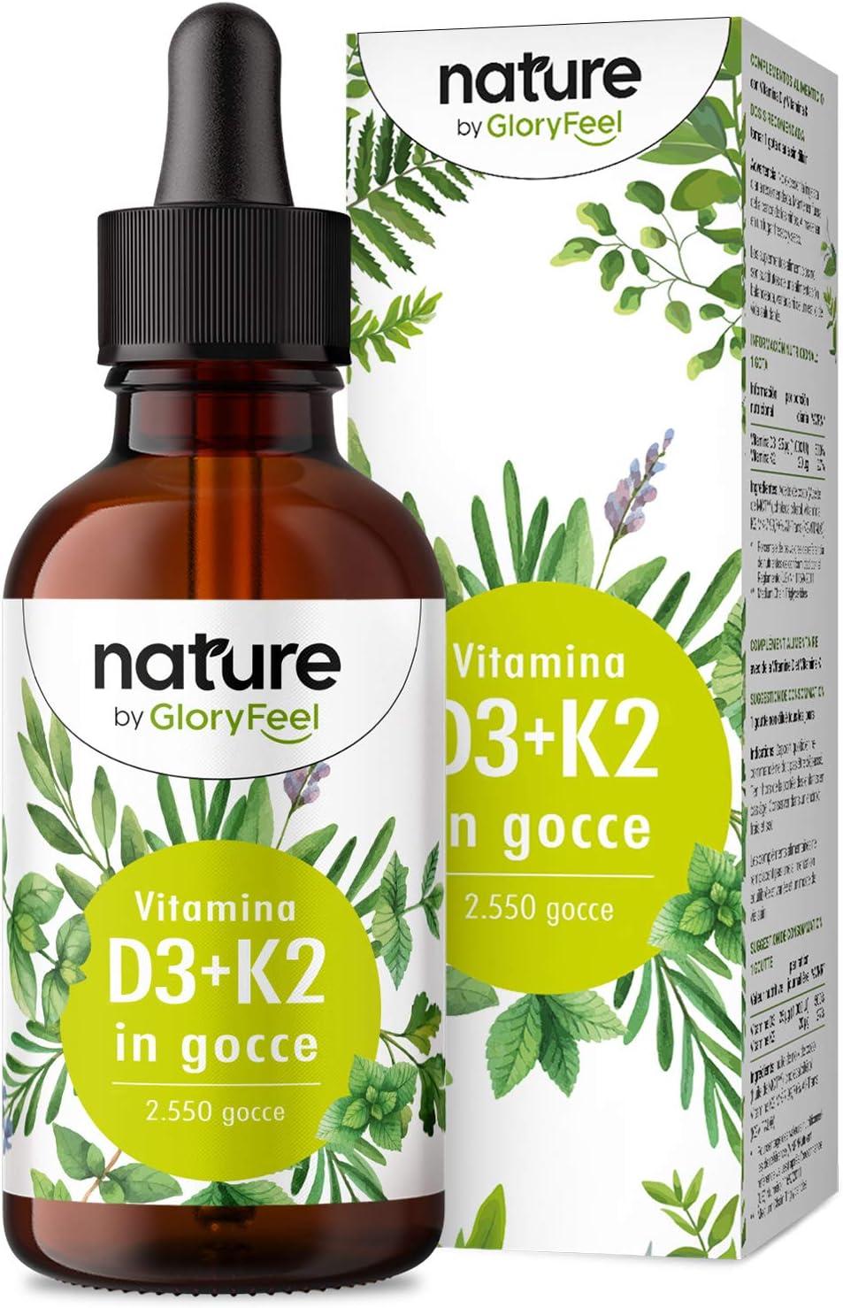Vitamina d3 k2 75ml in gocce, vitamina d3 colecalciferolo 1000 ui per goccia + vitamina k2 mk-7 menachinone ka