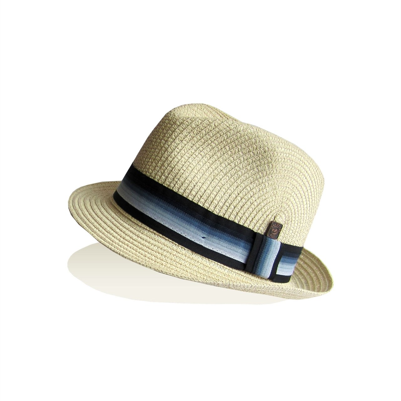 Dasmarca Mens Summer Straw Trilby Foldable Packable Hat - Monaco