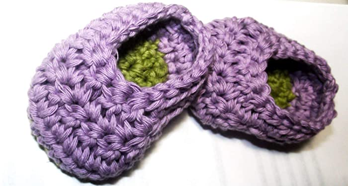 Amazon 9 12 Months Crochet Two Color Baby Slippers Baby