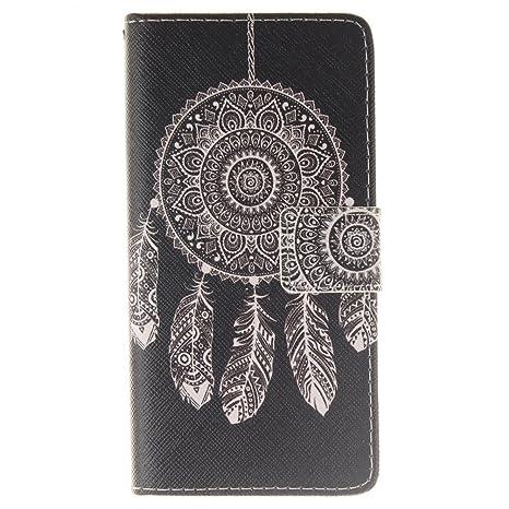 KATUMO Carcasas Huawei P8 Lite, Cubierta Funda Rigida Caso para Smartphone Huawei P8 Lite/ALE-L21 Funda Dura Flip Case Cover Soporte Horizontal y ...
