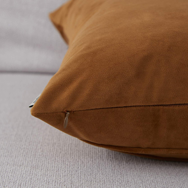Top Finel Juegos 2 Hogar Coj/ín Terciopelo Suave Decorativa Almohadas Fundas de Color S/ólido para Sala de Estar sof/ás 40x40cm Amarillo