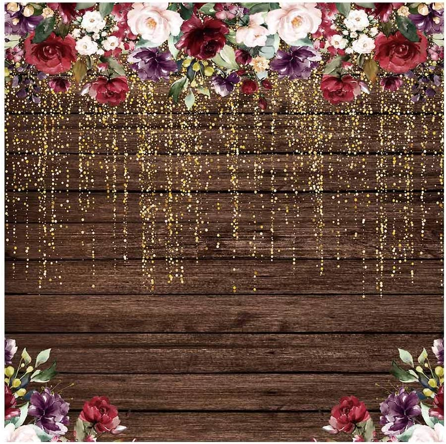 Amazon Com Funnytree 6x6ft Rustic Wood Flowers Photography