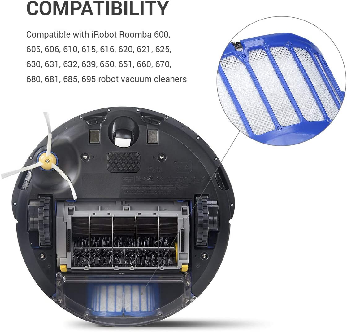 kwmobile Set de 3 filtros de Repuesto compatibles con Roomba ...