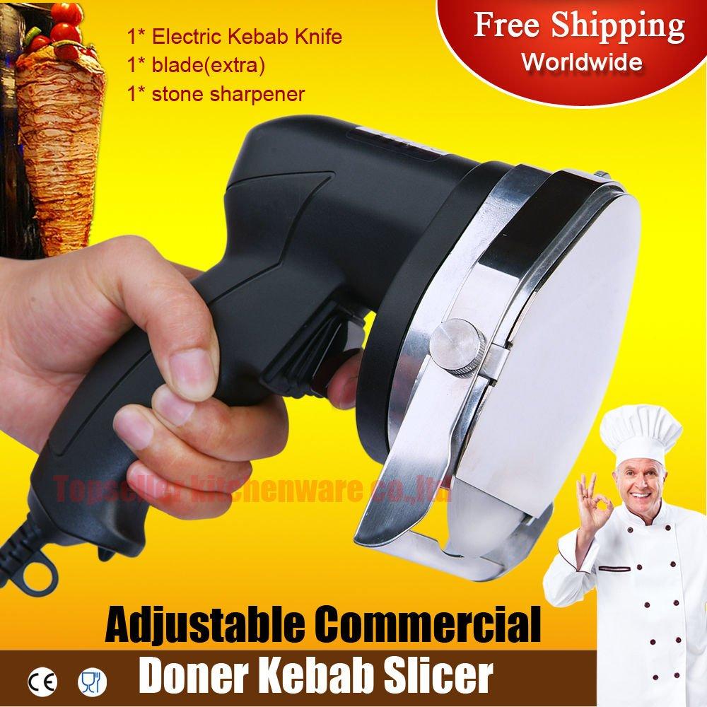 Kebab Cutter Doner Kebab Knife Slicer Electric Shawarma Gyros 220v / Ship By DHL