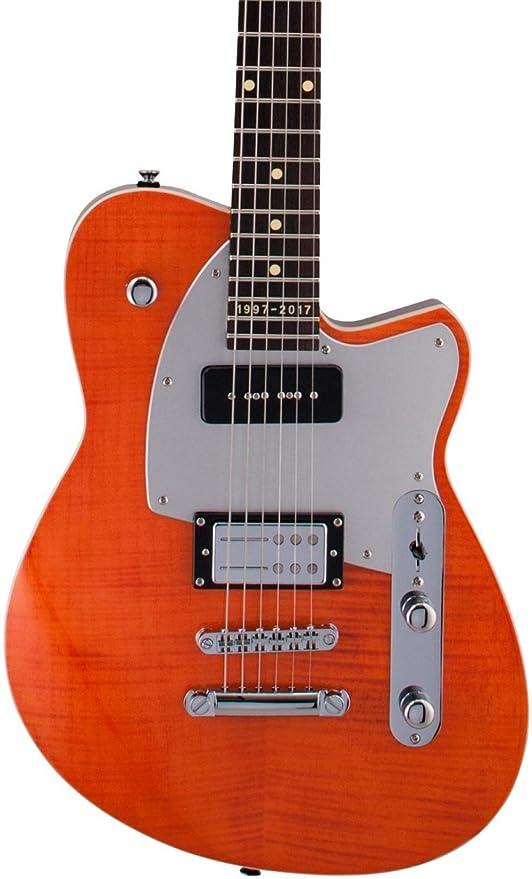 Reverend doble agente W XX Aniversario arce diapasón guitarra ...