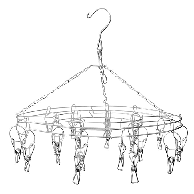 Kurtzy 20 Clothes Pegs Drying Rack Stainless Steel Clothespin