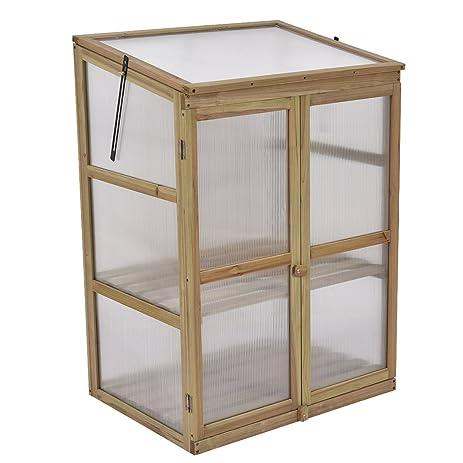 giantex garden portable wooden cold frame greenhouse raised flower planter protection
