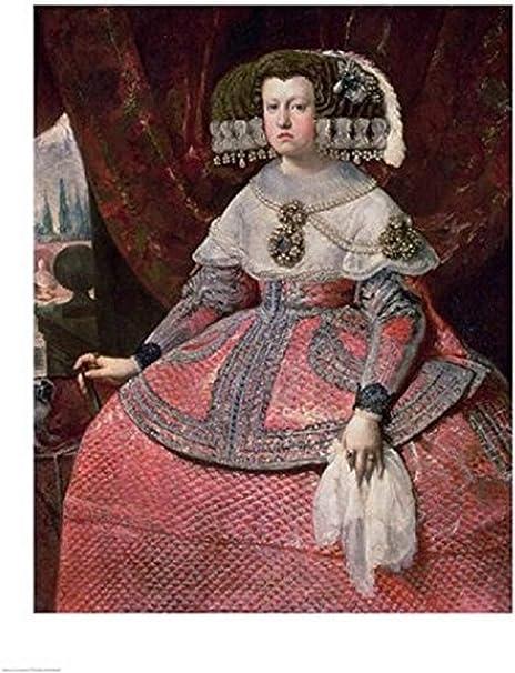 Diego Velazquez – Reina Maria Ana de España en un vestido rojo Artistica di Stampa (45,72 x 60,96 cm): Amazon.es: Hogar