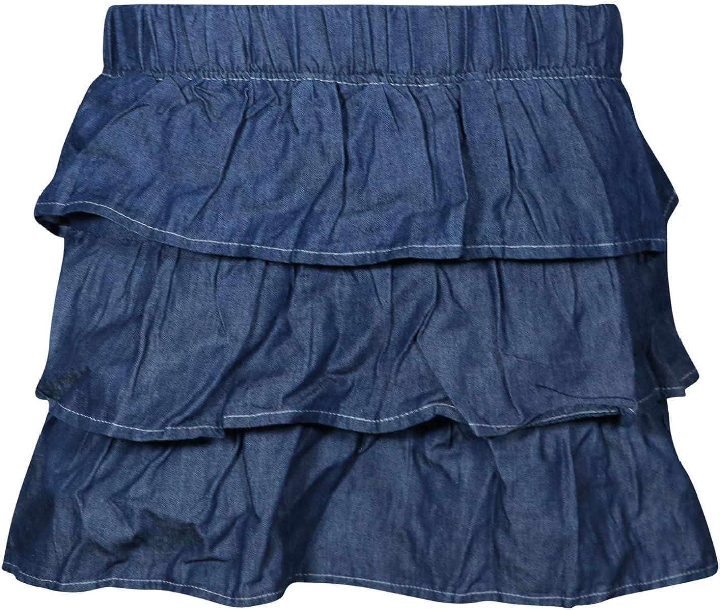 dollhouse Girls/' 2 Piece Denim Short Sleeve Top and Skirt Set