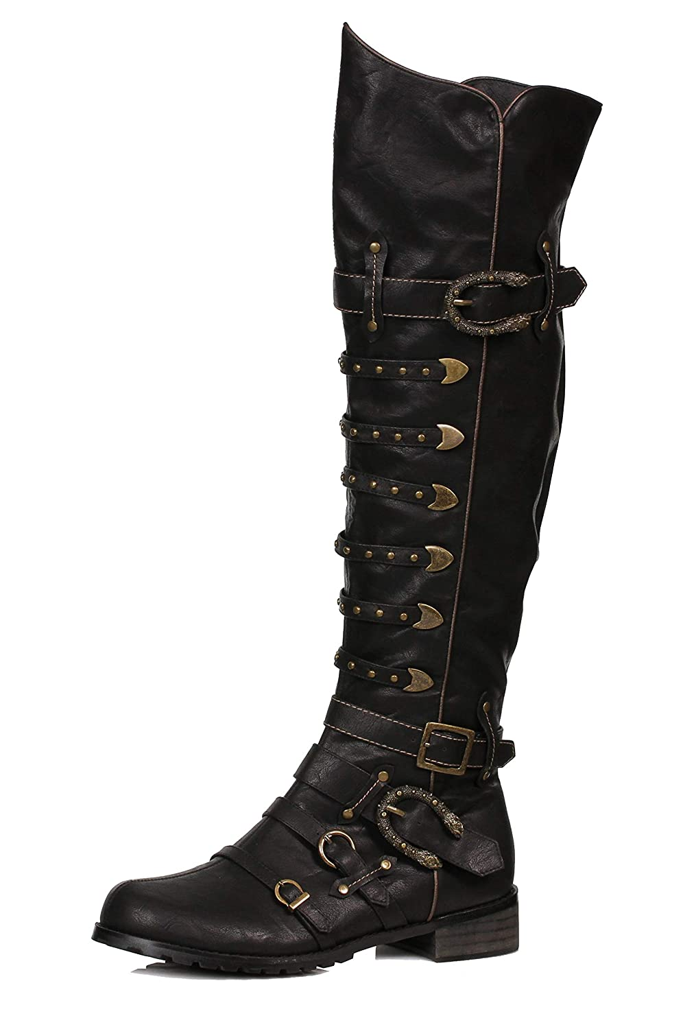 Steampunk Boots & Shoes, Heels & Flats Ellie Shoes Mens 158-Wilbur Steampunk Costume Boots $124.00 AT vintagedancer.com