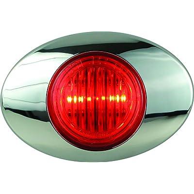 "Optronics 00212237P M3 Series Lens 3"" Marker/Clearance Light Kit, Millennium Series, Red: Automotive"