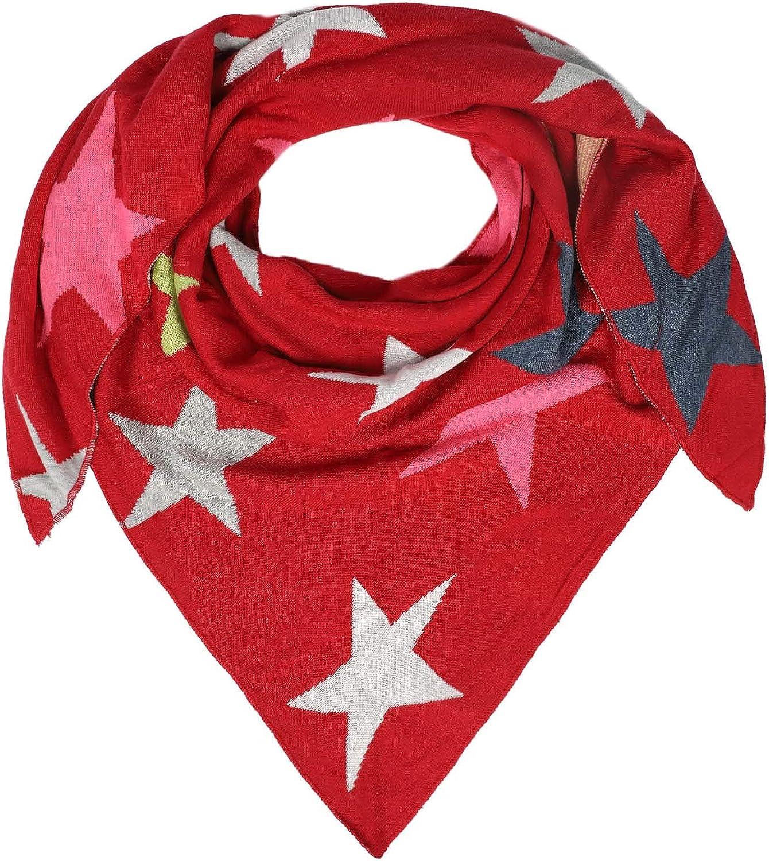 Uni Hochwertiger Schal mit Sternen f/ür Damen Jungen M/ädchen - f/ür Herbst Fr/ühjahr Sommer Zwillingsherz Dreieckstuch aus Baumwolle XXL Hals-Tuch und Damenschal