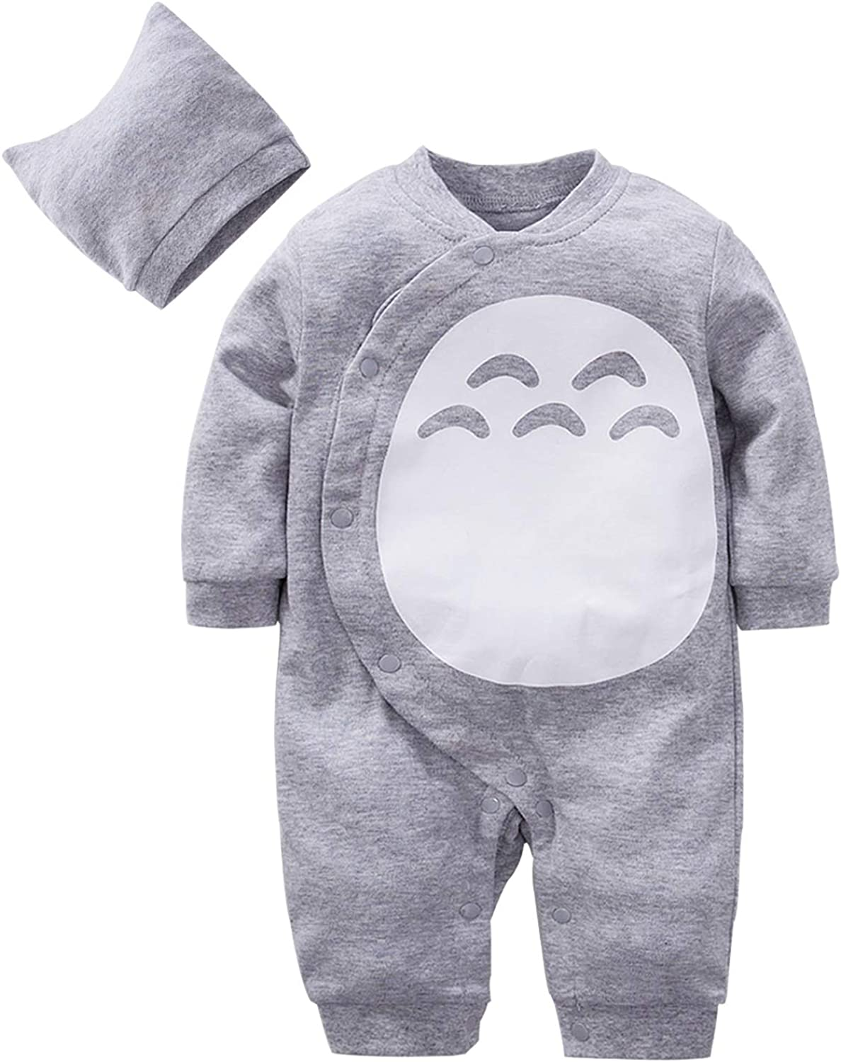 YFYBaby 2-Pack Newborn Boys Girls Rompers Cute Infant Toddler Cotton Onesie Outfits Cosplay Cartoon Costume