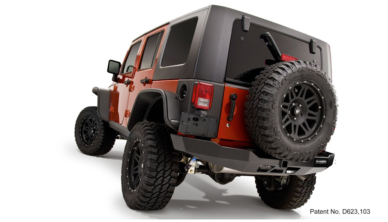 Bushwacker 10918-07 Jeep Flat Style Fender Flare Set of 4
