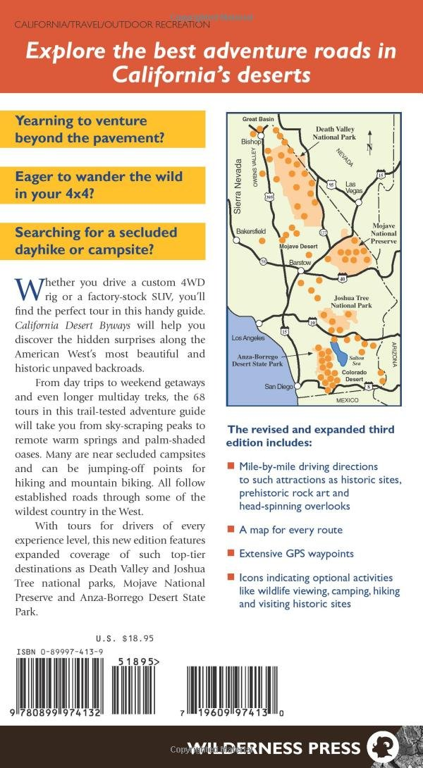 California Desert Byways 68 Of Californias Best Backcountry Drives