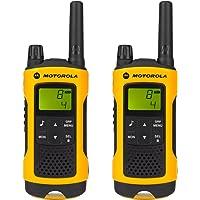 Motorola Paire de talkies walkies Motorola T80EX portée en champs libre 10km Jaune