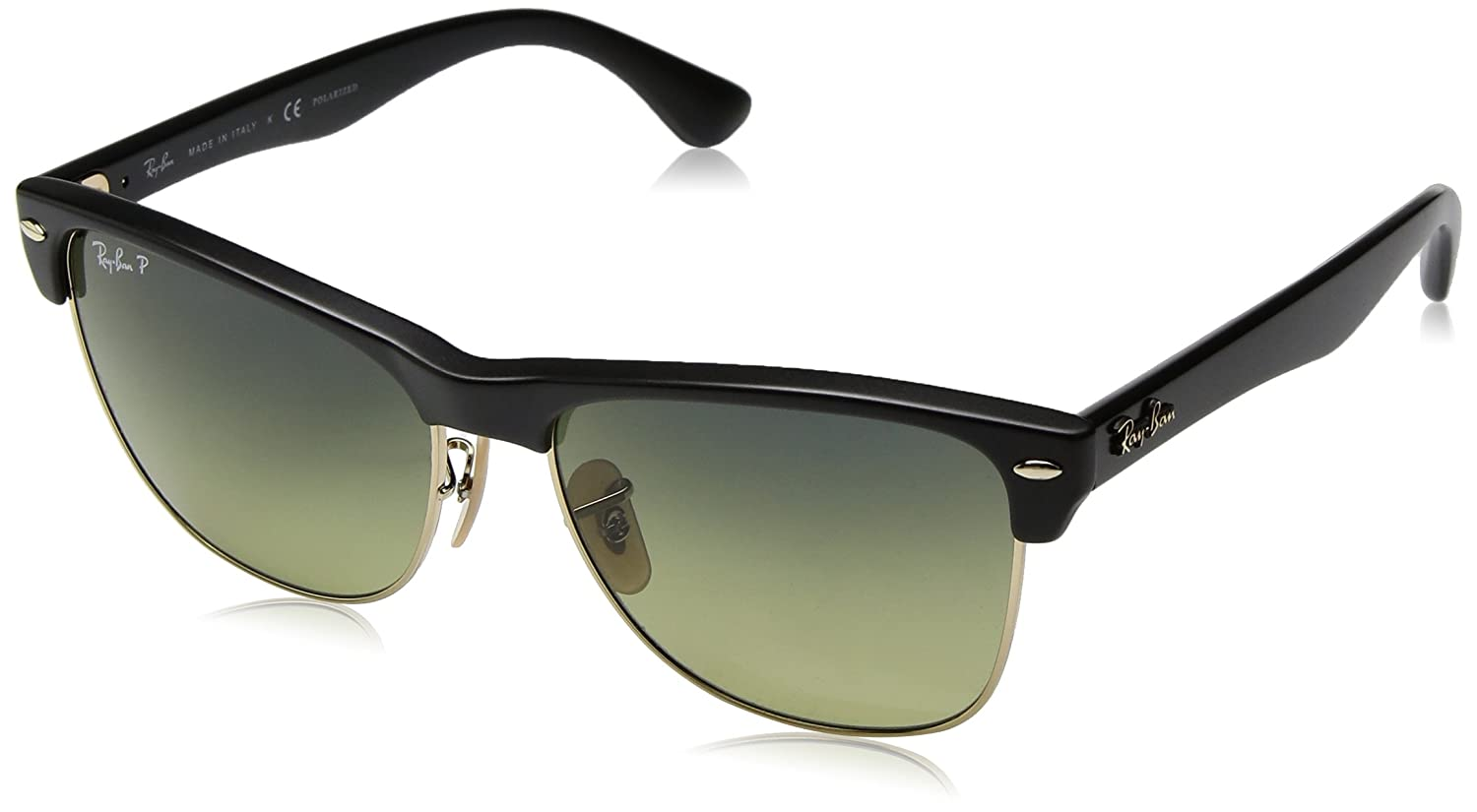2ec95862cdd92 ... free shipping amazon ray ban mens clubmaster oversized polarized square  sunglasses demi gloss black 57 mm