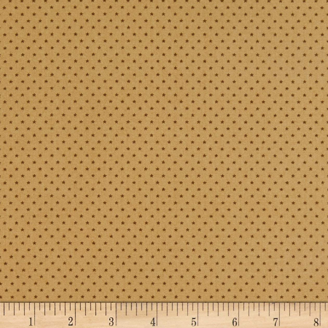 Andover Sonoma Stars Honey Fabric Fabric by the Yard