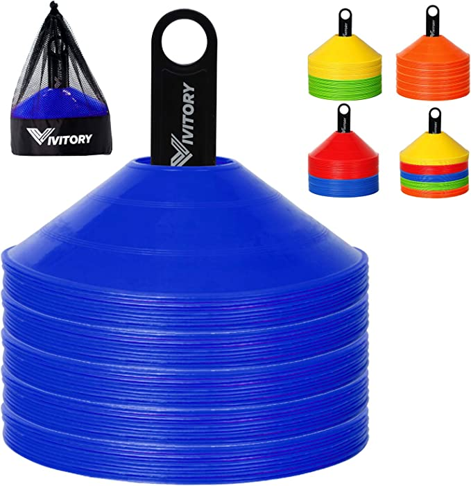 Set of 56 Agility Disc Cones Birthday Party Games Agility Courses Mazes Soccer Football Kids Sports Field Day Events School Sport Play