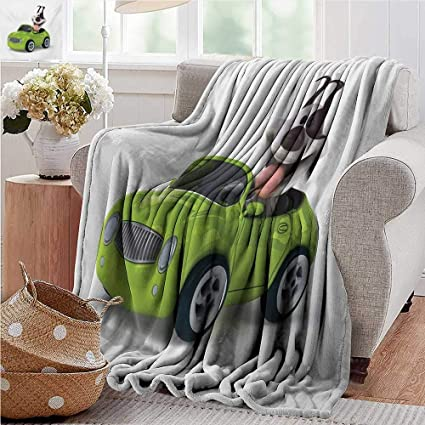 Pleasing Amazon Com Soft Cozy Throw Blanket Dog Driver Fun Dog In Gmtry Best Dining Table And Chair Ideas Images Gmtryco