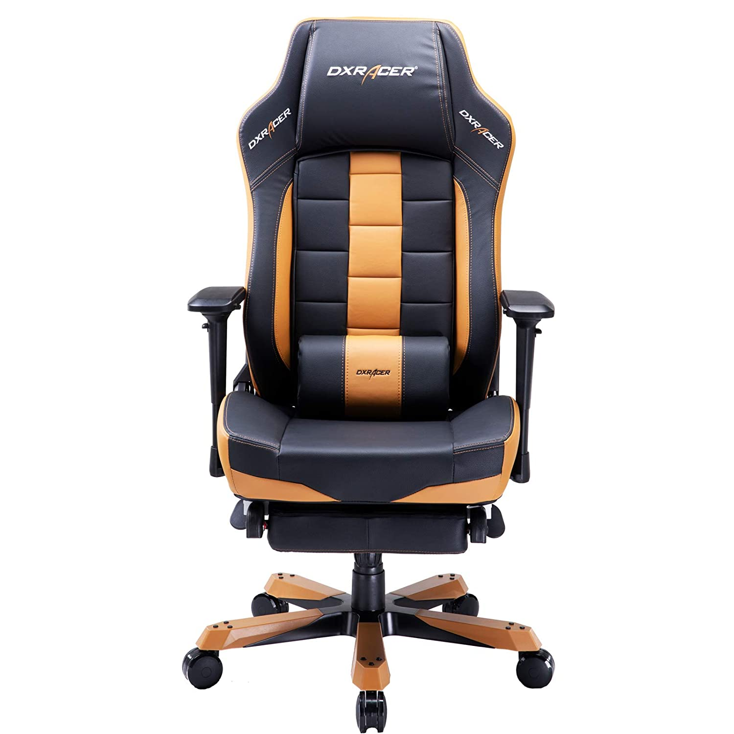 DXRacer USA Classic Series OH CA120 NC Gaming Chair Computer Chair Office Chair with Footrest, Ergonomic Design, Swivel Tilt Recline, Adjustable with Tilt Angle Lock, Includes Lumbar Cushion Tan