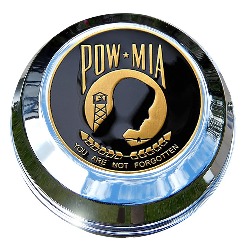 MotorDog69 Indian Gas Cap Coin Mount Set with POW-MIA for Chieftain Roadmaster Chief Classic Scout/… Dark Horse Chief Vintage