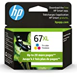 Original HP 67XL Tri-color High-yield Ink Cartridge | Works with HP DeskJet 1255, 2700, 4100 Series, HP ENVY 6000, 6400 Serie