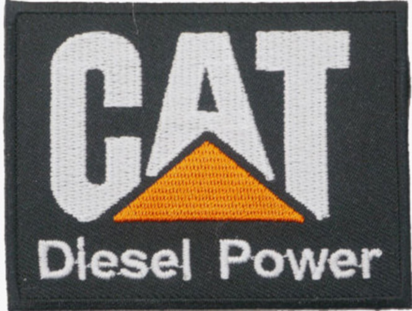 CAT Diesel Power Embroidered Iron on Patch Sew On Badge