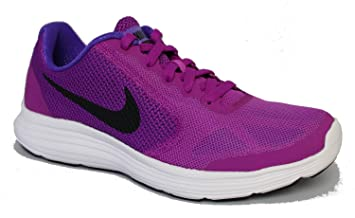 low cost cdcc8 4cc0b NIKE Chaussures de course pour enfant Révolution 3 (GS) Violet Noir Blanc,  hyper