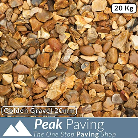 GOLDEN GRAVEL Size: 20mm Bulk Bag Decorative Chippings//Aggregates
