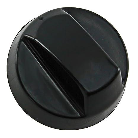 Spares2go Perillas de Control universales Negras para Todas Las Marcas de Horno, Cocina y Placa de Cocina (Paquete de 4)