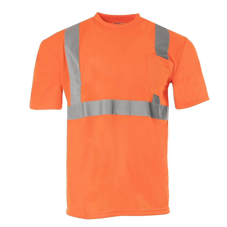 JORESTECH Safety short sleeve shirt (Large), Orange Technopack Corporation S-TSL-01