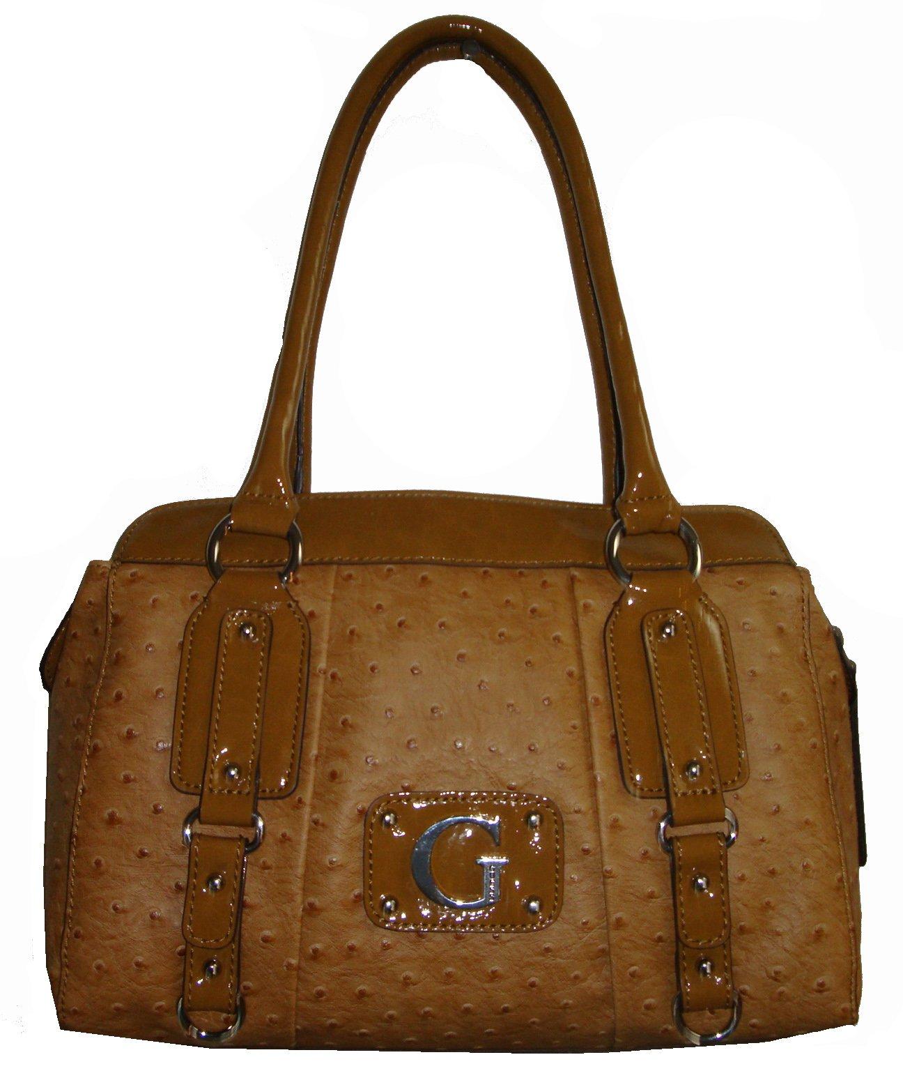 Guess Women's Rogue Satchel Style Handbag, Cognac by GUESS