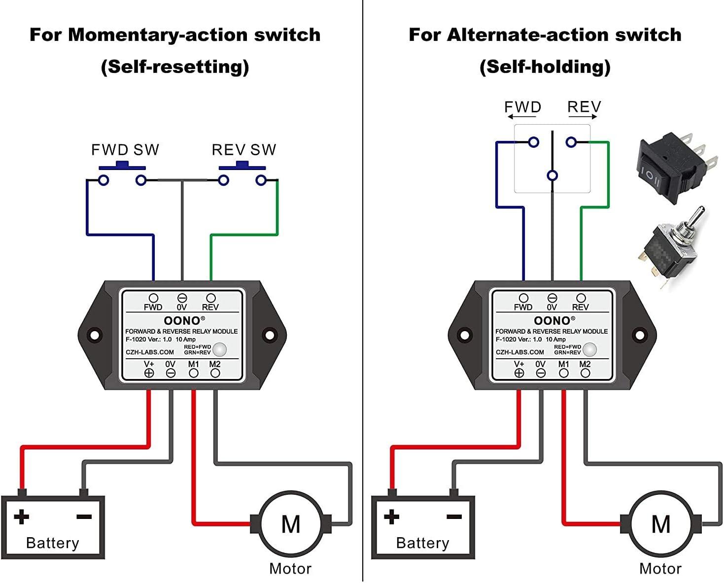 m/ódulo de rel/é de marcha atr/ás M/ódulo de rel/é de avance y marcha atr/ás para el actuador motor//lineal DC 12 V
