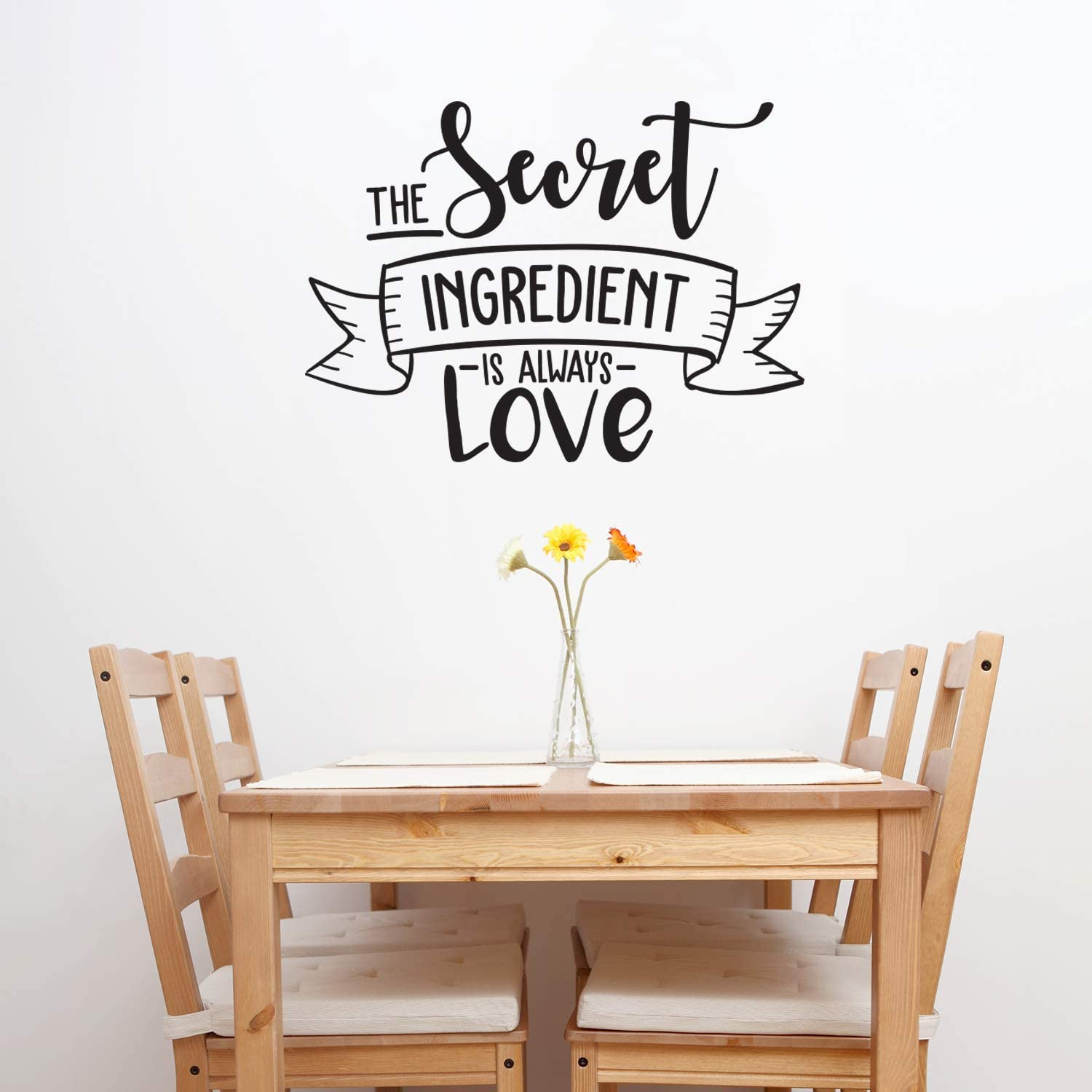 Vinyl Wall Art Decal - The Secret Ingredient is Always Love - 22