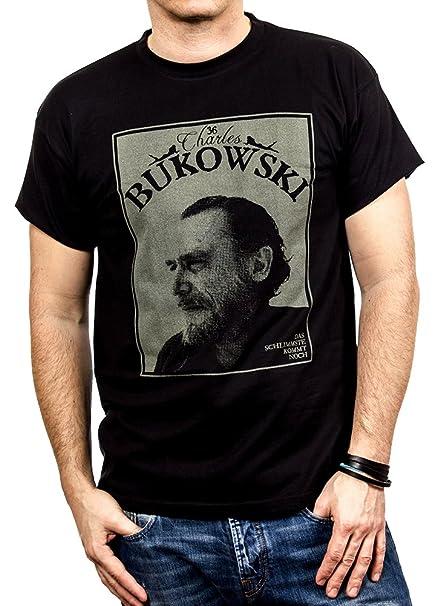 MAKAYA Camisetas Con Frases Originales - Chalres Bukowski: Amazon.es: Ropa y accesorios