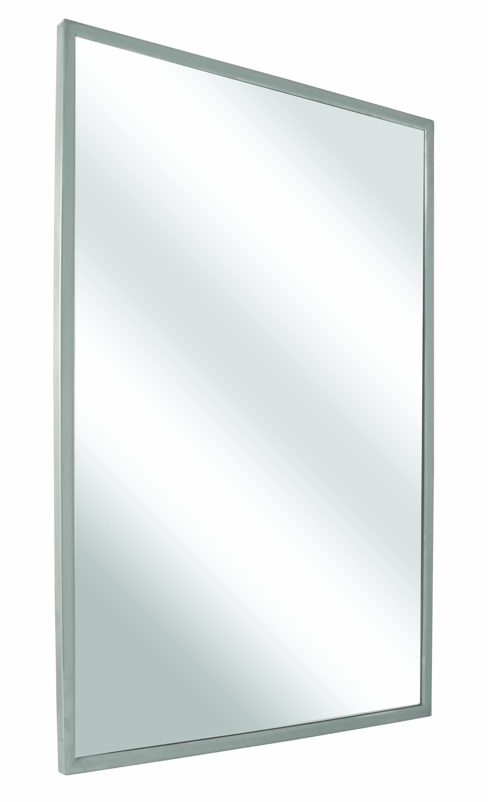Bradley 781-018300 Roll-Formed Channel Frame Float Glass Mirror, 18'' Width x 30'' Height