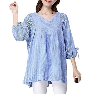 e5cc2c4ece Simple-Fashion Freizeit Locker Gitter Top Hemden Bequeme T-Shirt Tuniken  Frühling und Herbst