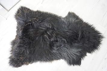 GENUINE EXTRA LARGE SOFT ICELANDIC SHEEPSKIN RUG WHITE BROWN SILVER BLACK