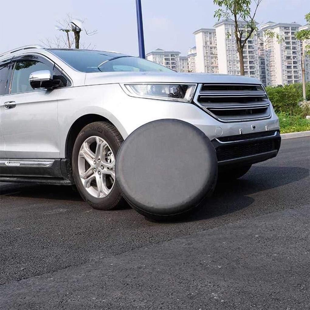 Busirde Qualit/äts-Universal PVC er Ersatzreifen-Abdeckung Schwarz Staubdicht Waterproof Auto Auto-Reifen-Covers 17inch