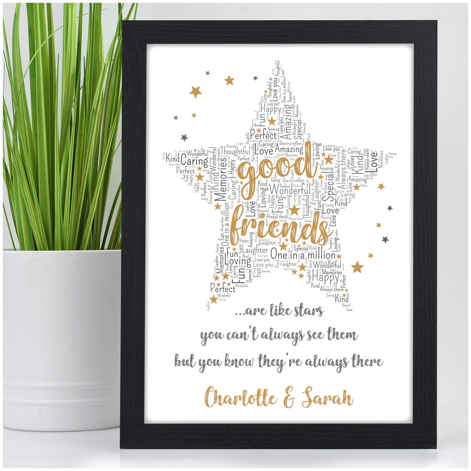 PERSONALISED Good Friends Are Like Stars Gifts For Best BFF Special Christmas Birthday Her Presents