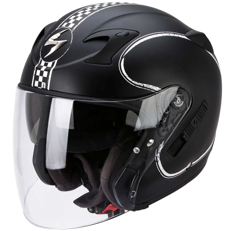 Noir//Jaune SCORPION Casque Motocorpion EXO 220 Bixby Taille S