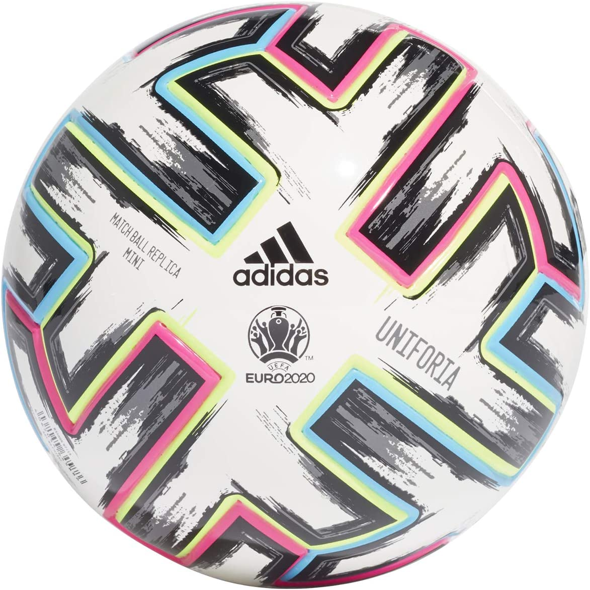 adidas UNIFO Mini Balón de Fútbol, Mens, White/Black/Signal Green ...