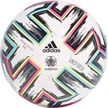 adidas UNIFO Mini Soccer Ball, Mens, White/Black/Signal Green ...