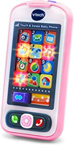 VTech Touch and Swipe Baby Phone, Pink, Great Gift for Kids, Toddlers, Toy for Boys and Girls, Ages Infant, 1, 2, 3