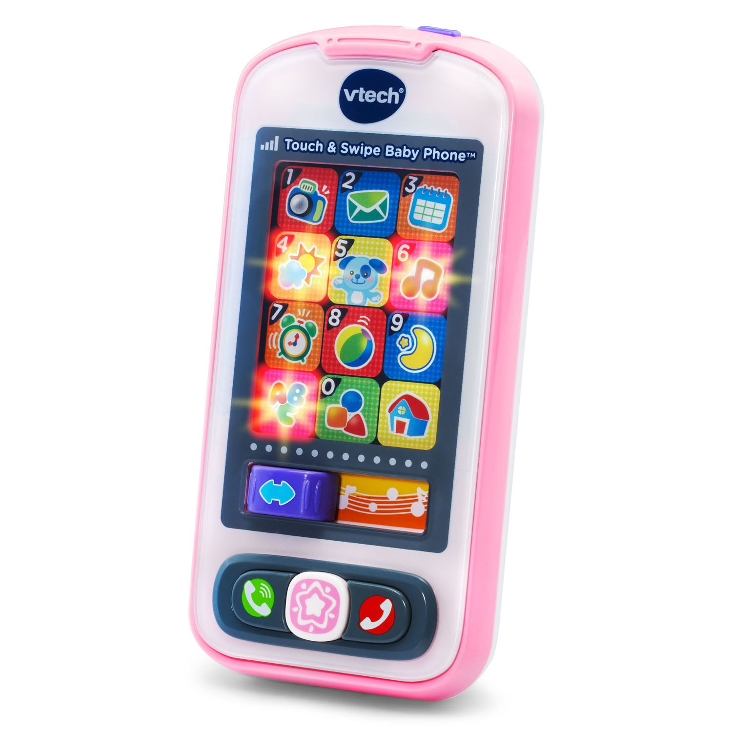 VTech Touch and Swipe Baby Phone - Pink - Online Exclusive