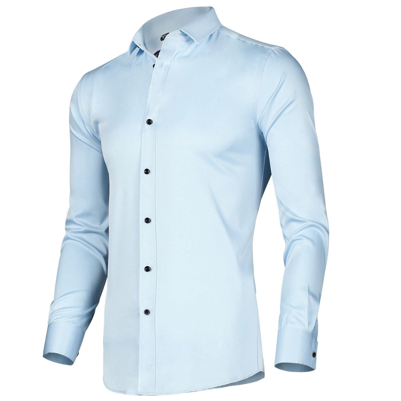 LiberalApp Men's Dress Shirts Regular fit Long Sleeve Slim Lesuire Business Shirts