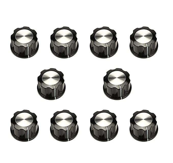 Karcy 10Pcs 6mm Hole Dia Electric Bakelite Rotary Knob Cover Speaker  Potentiometer for Cabinet & Furniture Knobs, etc. Black: Amazon.in: Home  Improvement