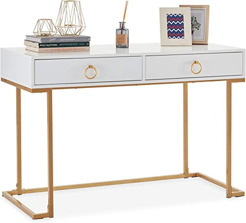BELLEZE Two-Drawer Home Office Computer Desk Vanity Table