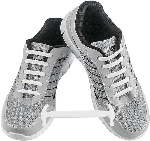 WELKOO® Lacets Elastiques en Silicone Sans Lacage Etanche pour Chaussure Adulte et Enfant 16 & 12pcs Couleur Divers Disponibles. STOCK EN FRANCE